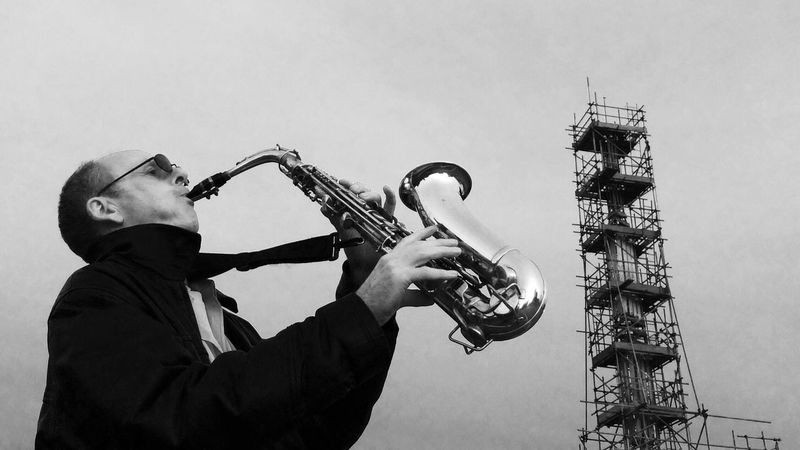 Musician Sax Saxophonist Busker Low Angle View Instrument Manchester