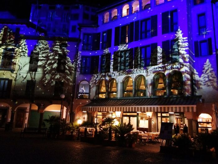 Illuminated Night Building Exterior Architecture Built Structure City No People Outdoors Lovere Lombardia
