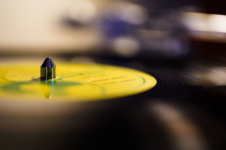 First base The Partner Collection Partner Collection Musical Equipment Yellow Turntable Close-up Record Music Table Vinyl Records Vinyl Record Player Audio Equipment Audio Sound LP Album