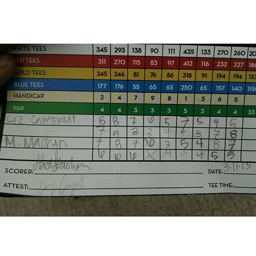 Played my worst yesterday... Totally of 96... CentralValleyTournament