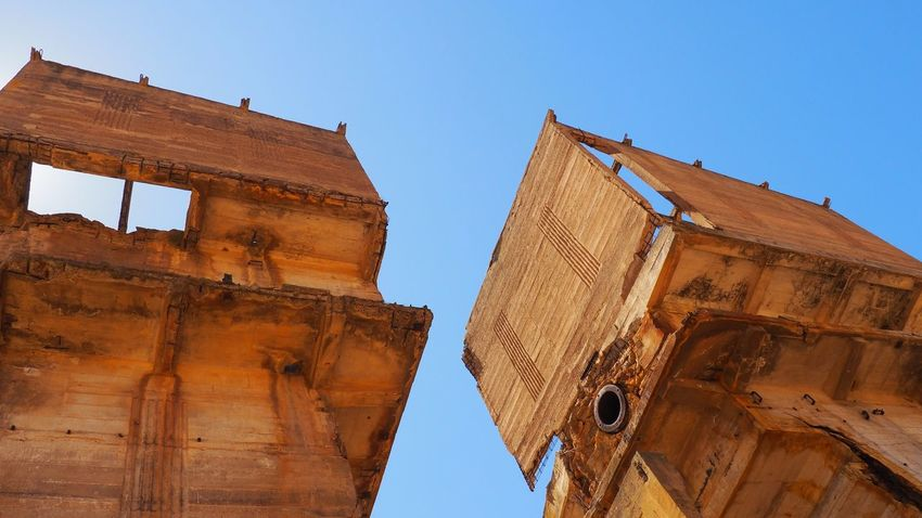 Abandoned Ancient Civilization Architecture Building Exterior Built Structure Clear Sky Day Low Angle View No People Old Ruin Outdoors Sky