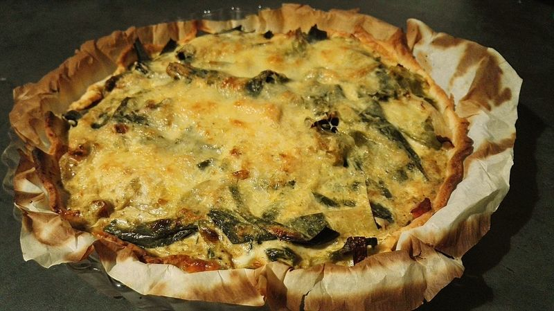 Food Food And Drink Close-up Indoors  No People Healthy Eating Freshness Ready-to-eat Day Poireaux Quiche Tarte Pie Gratinated