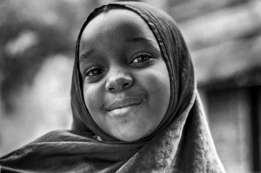 Zanzibar Tanzania Stone Town Africa Portrait Blackandwhite Photography Blackandwhite Monochrome Smile EverydayEmotion Everydayafrica Girl Power