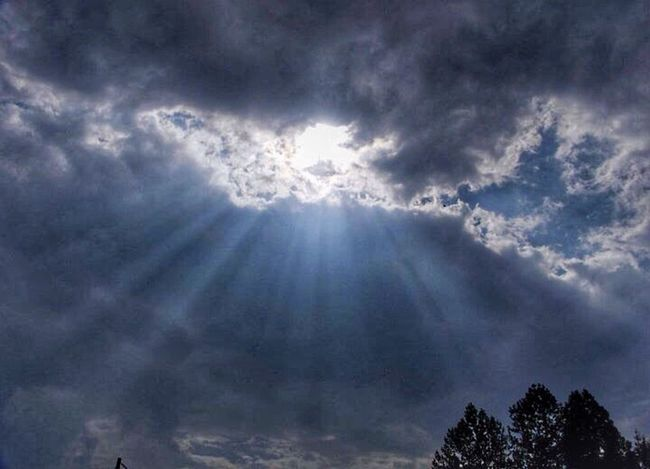 Sun peaking out from behind a cloudy day. Crepuscular Clouds And Sky WeatherPro: Your Perfect Weather Shot Cloud Porn