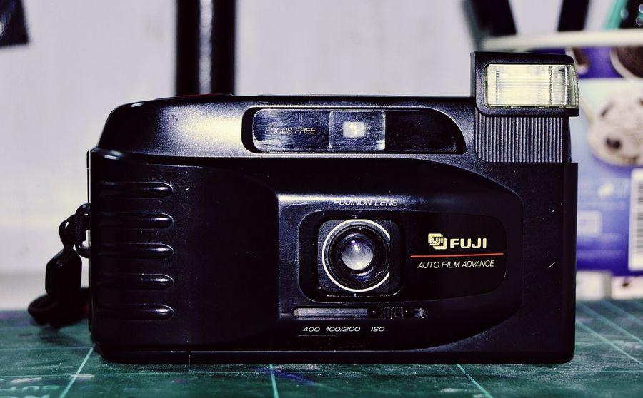 Photography Themes Old-fashioned Camera - Photographic Equipment Photographic Equipment Antique Technology No People Indoors  Close-up Fuji Fujifilm Fuji Camera Compactcamera EyeEmNewHere Lieblingsteil