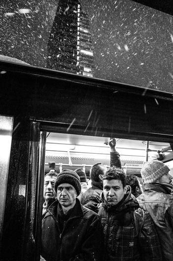 Under Pressure Crowd Snow Blizzard Streetphotography Street Life Streetphotography_bw Blackandwhite My Daily Commute Cknvisualportfolio