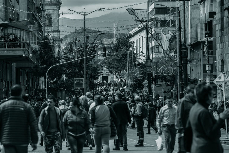Bogotá Bogota,colombia. Colombia Downtown City Architecture Building Exterior Group Of People Built Structure Street Real People Crowd Men City Life Walking Large Group Of People Women Lifestyles Adult Motion City Street Outdoors Day Power Supply