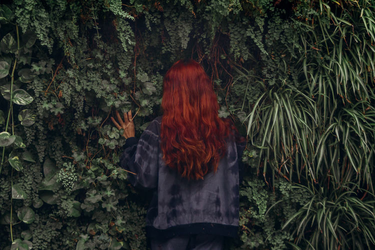 Koset is too special One Person Hair Standing Plant Real People Hairstyle Long Hair Tree Lifestyles Women Growth Nature Day Redhead Outdoors Dyed Hair Rear View Beauty In Nature My Best Photo