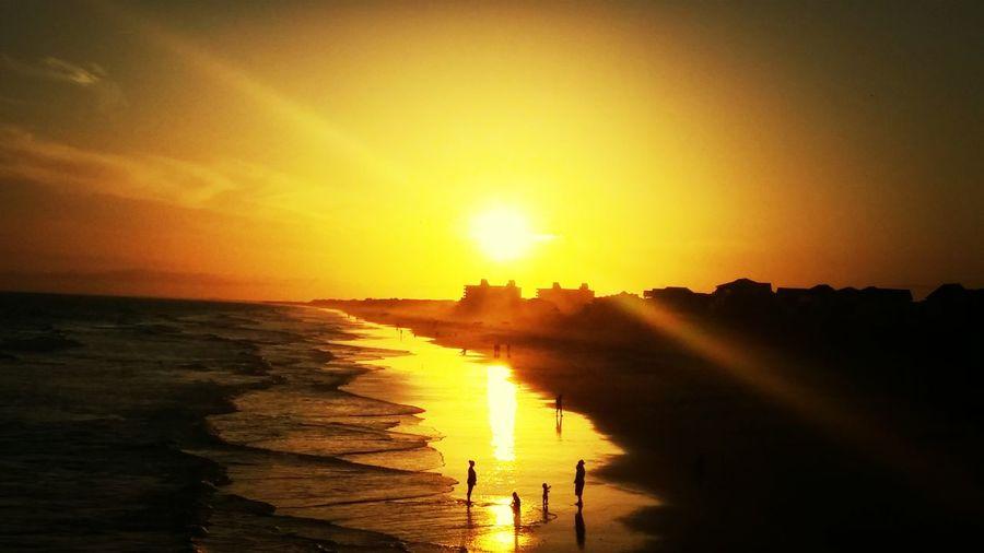 Sunset Bogue pier Emerald Isle Relaxing Enjoying Life Taking Photos