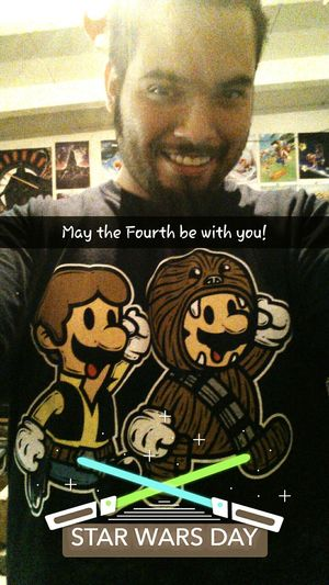 Probably my favorite shirt! May the Fourth be with you! Star Wars MayThe4thBeWithYou MayTheFourthBeWithYou SuperMarioBros Super Mario Bros. Snapchat Selfıe Nintendolove Star Wars Day Star Wars Inspired