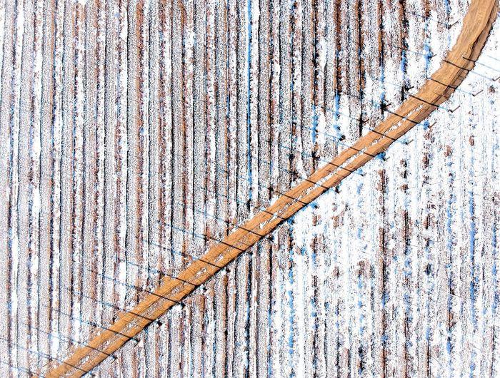 Full Frame Shot Of Roof During Winter