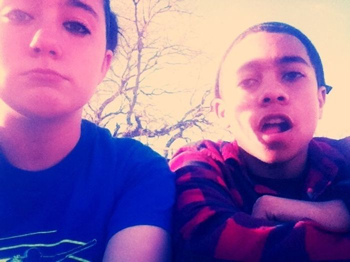 Me And My Boy(: We So Cute.