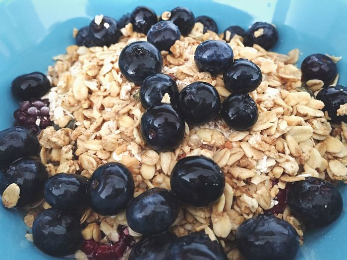 Breakfast Oats Porridge Granola Blueberries Healthy Eating Healthy Food Bowl Blue Vegan Lifestyle Healthy Meal Prep Fruits Snack Forest Fruits Blackberries