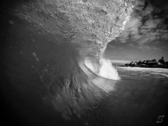 Fading in Ocean Water Blackandwhite Photography Creativity Dreamwater