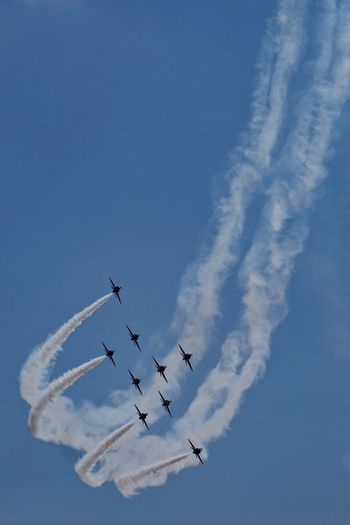 Red Arrows display team Fighter Jet Airplane Air Vehicle Airshow Mode Of Transportation Sky Transportation Flying