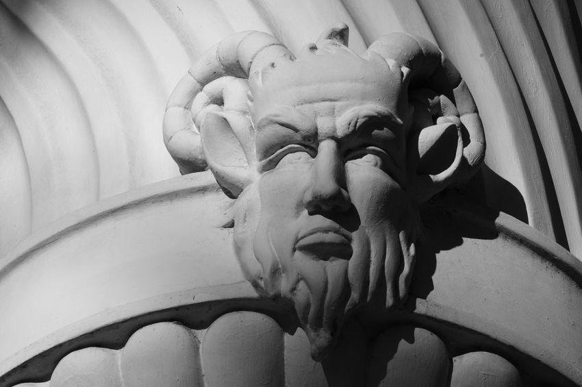 Fauno. Statue Sculpture Travel Symbol Close-up Mythology No People Outdoors Day EyeEmNewHere Blackandwhite Art Black & White Shadow Contrast Architecture Illuminated