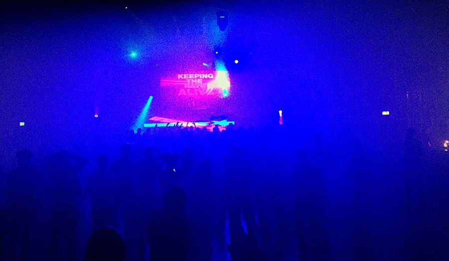 Large Group Of People Music Nightlife Fun Illuminated Stage - Performance Space Rave 02 Academy