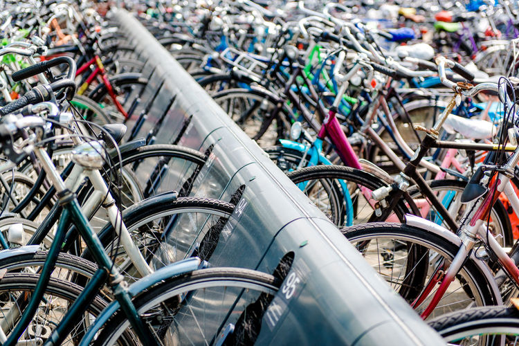 Bicycles Parked At Rack