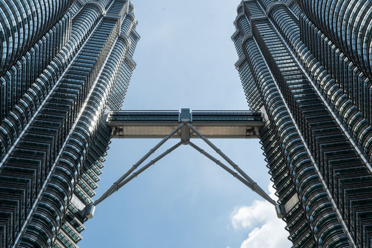 Twin Tower of Kuala Lumpur, Malaysia Architecture Built Structure Sky Low Angle View Building Exterior Tall - High No People Day Nature Building City Skyscraper Office Building Exterior Tower Modern Outdoors Cloud - Sky Travel Destinations Tourism Directly Below Malaysia Kuala Lumpur Ijas Muhammed Photography Twin Towers Architecture