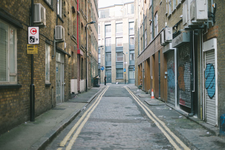 . London Streetphotography Street Building Exterior Architecture Built Structure Building City Direction The Way Forward No People Residential District Day Diminishing Perspective Sign Outdoors Road Transportation Narrow Window Footpath Alley