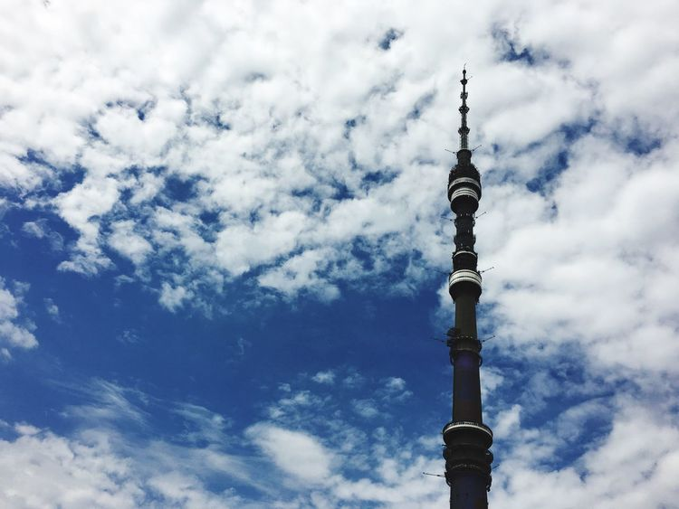 Ostankino Ostankinotvtower Sky And Clouds