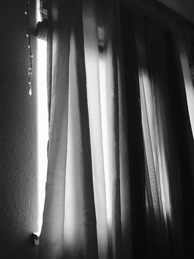 Curtain Indoors  Drapes  Window Day Close-up No People EyeEm Challenge Winter Sun Sunlight Blackandwhite Black And White Collection  Black And White Black And White Challenge 2017 No Edit/no Filter Pure And Untouched (raw Image) No Filter, No Edit, Just Photography Still Life IPhoneography