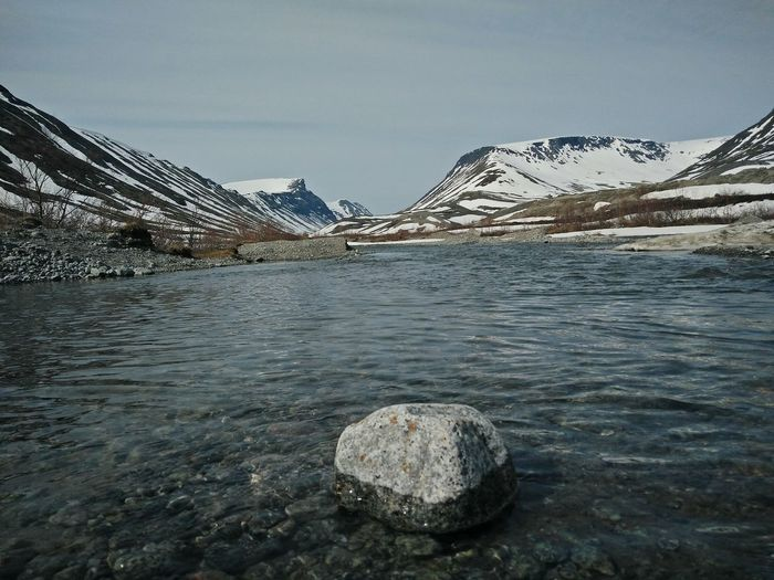 Mountain Landscape Outdoors Water No People Sky Snow Nature Day Kirovsk Murmanskregion Kolapeninsula Polarspring