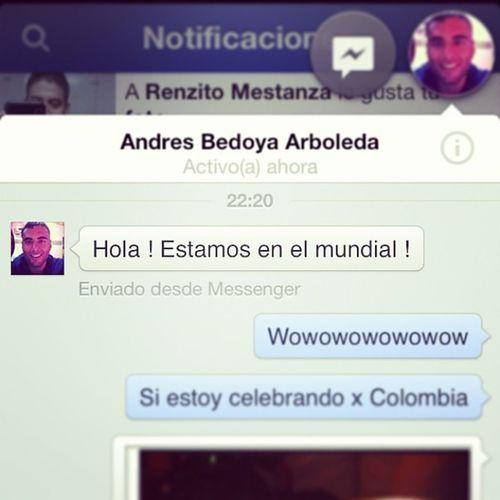Un colombiano muy contentó Igerscolombia Colombia Igersperu Clasificatoriasbrasil2013 facebook amigo