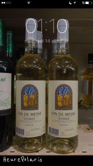 01H10 Vin de messe, Messi ça se trouve en rayon 😃😂👍😜🍷 HEURE POLARIS Heure Time Hour Religion Spirituel Spiritual Vin Vine