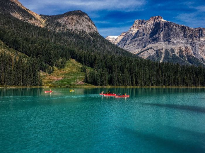 Emerald lake Emerald Lake Emeraldgreen Landscape Water Mountain Tree Scenics - Nature Waterfront Plant Nautical Vessel Beauty In Nature Transportation Nature Mountain Range Lake Mode Of Transportation Outdoors 17.62° My Best Photo The Great Outdoors - 2019 EyeEm Awards The Street Photographer - 2019 EyeEm Awards