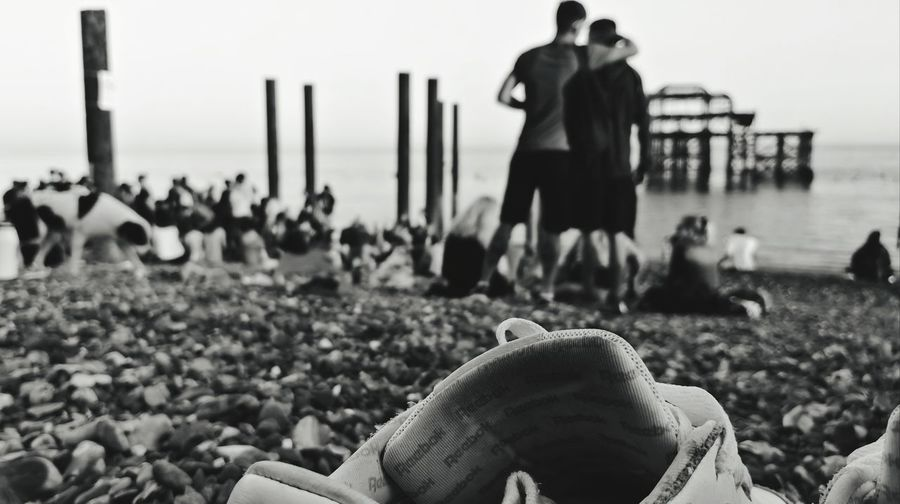 My Shoe Pier Rave Water Sea Beach Men Photography Themes Crowd Sitting Women Sky Shore Summer Road Tripping Love Is Love