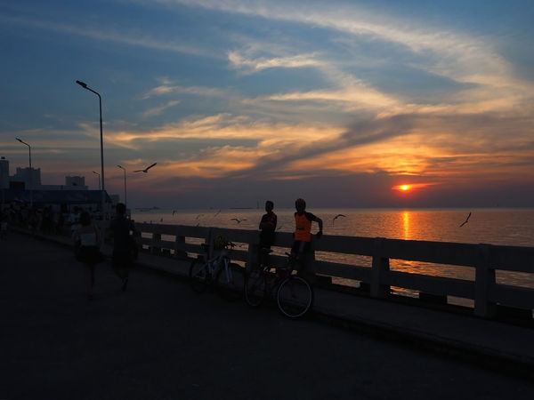 🚴 CyclingUnites 🚴 Bangpu Beauty In Nature Bicycle Bird Transportation Cloud - Sky Exceptional Photographs Landscapes Nature Outdoors People People Watching Real People Scenics Sea Sea And Sky Silhouette Sky Street Photography Sunset Tadaa Community Tranquility Travel Water Reflections