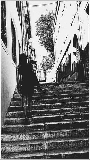 Blackandwhite Black And White Blackandwhite Photography Kontraste Walking Full Length Day One Person Steps And Staircases Architecture One Man Only Outdoors Real People Adults Only Adult People