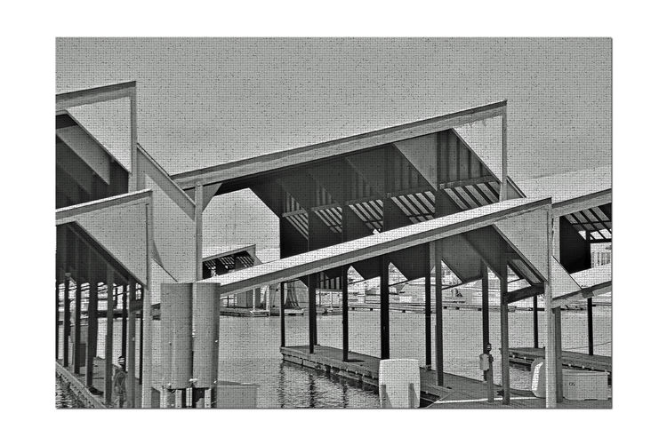 Covered Wet Berths 3 San Leandro Marina Boat Slips Berths Docks Storage Nautical Vessels Architecture Architectural Detail Geometric Shapes Pattern Pieces Abstract Abstract Photography Mosaic Monochrome Monochrome_Photography Black & White Black & White Photography Black And White Black And White Collection  Diagonals Corners Rectangles Squares Wood Metal Water Roofs My Unique Style LINE Triangle Shape