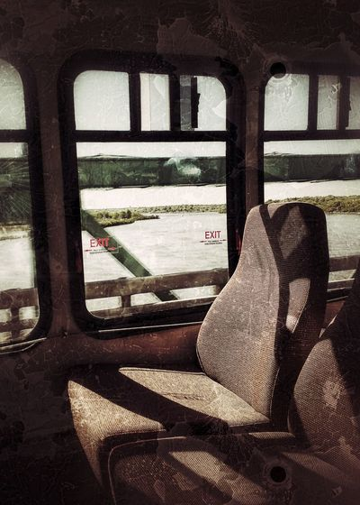 Bus Seats Mississippi River I-74 Bridge Bridgeview Moline Illinois Bettendorf Grunge Driving Over A Bridge