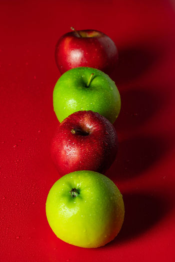 Red and green fresh apple, nature fruit for healthy Agriculture Apple Diet Green Color Macro Photography Vegetarian Food Apple - Fruit Delicious Food Fresh Fruit Healthy Food Juicy Fruit Organic Food Red Color Ripe Fruit Sweet Food Vitamin