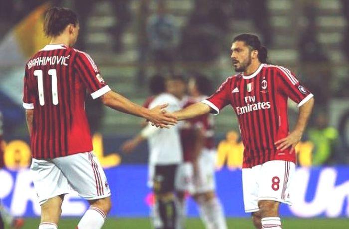 Mis 2 grandes idolos Milan Forzamilan Gattuso Ibrahimovic