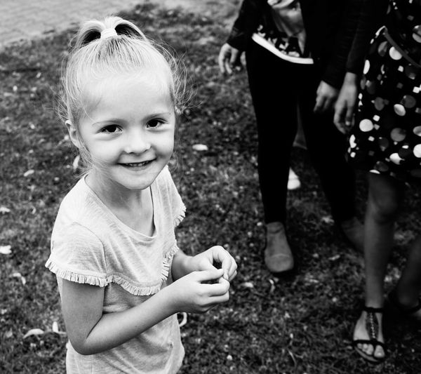 Black And White Blackandwhite Child Childhood Children Children Photography Day Girl Girls Happiness Leisure Activity Lifestyles Outdoors People Real People Smile Sony SONY A7ii Togetherness