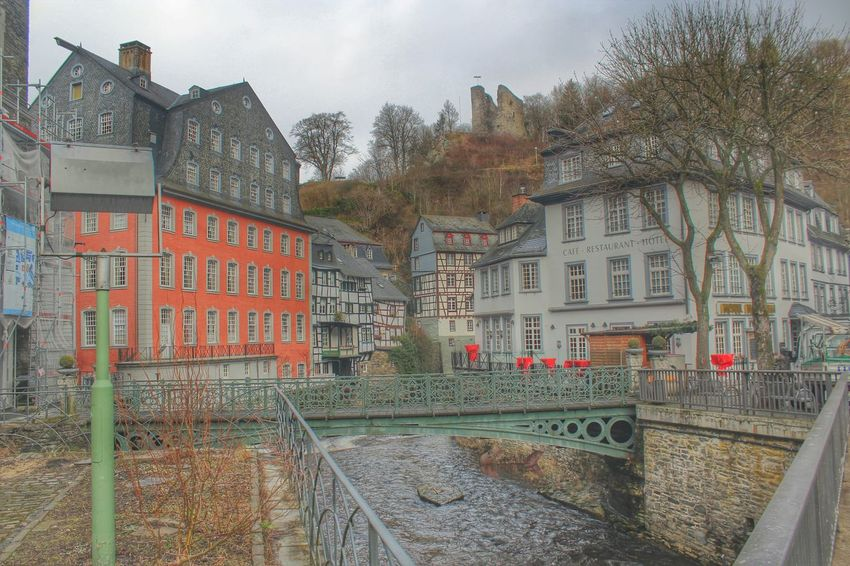 Monschau Eifel Germany Streetphotography Buildings The Red House River View MyHdrWorld Hdr_oftheworld Bridges