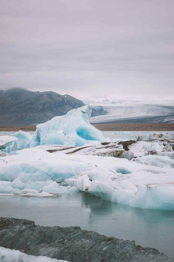 Cold Cold Temperature Glacier Ice Iceberg Iceland Lake Snow Trip Vacation Water