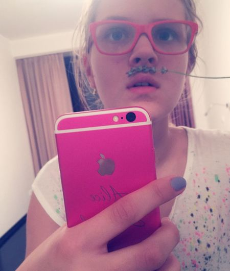 Hipster Moustache Fake Moustache Pink Glasses IPhone