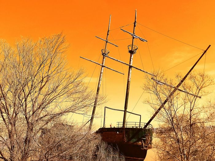 Orange Sky Pirate Ship