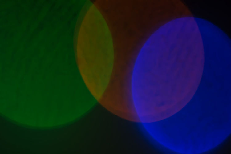 Abstract Astronomy Blue Bokeh Close-up Ilumination Lens Moon Multi Colored No People