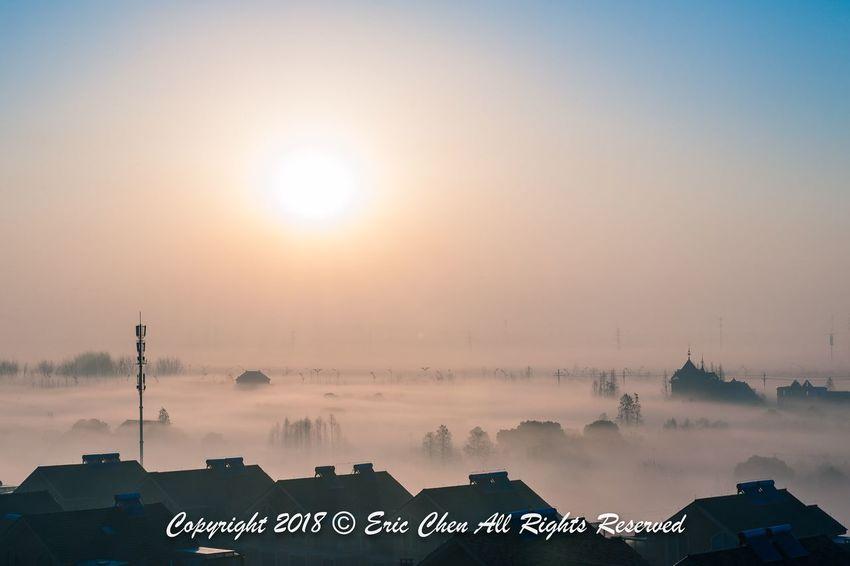 Misty morning Jiashan Zhejiang Beautiful Nikond700 2470mm Nikonphotography