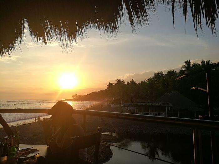 Sunset Sky Beach PlayaElTunco El Salvador Impresionante First Eyeem Photo