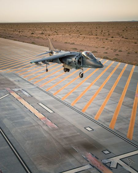 EyeEm Selects USMC Aerial View High Angle View Air Vehicle Military Aerospace Industry Airplane Airport Runway Military Airplane Cockpit Harrier Yuma, AZ AZ Mcas USMC Aviation Outdoors Flying Fighter Plane Av8b Harrier Jet Yuma