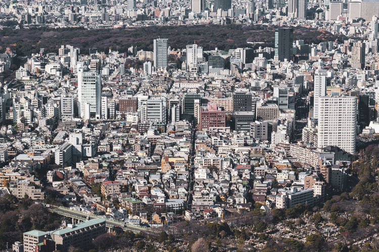 Tokyo Tokyo Japan Building Exterior Cityscape Architecture Building Crowd City Built Structure Residential District Crowded High Angle View Skyscraper Office Building Exterior Aerial View Day Tower Tall - High Nature Community Outdoors Modern Urban Sprawl Settlement