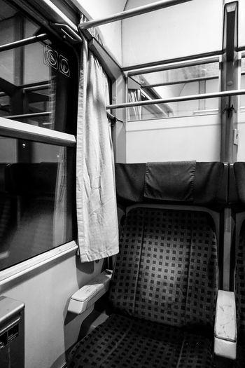 Empty seat in train