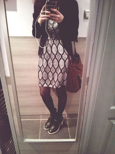 Ootd Go To Paris Dress Black And White