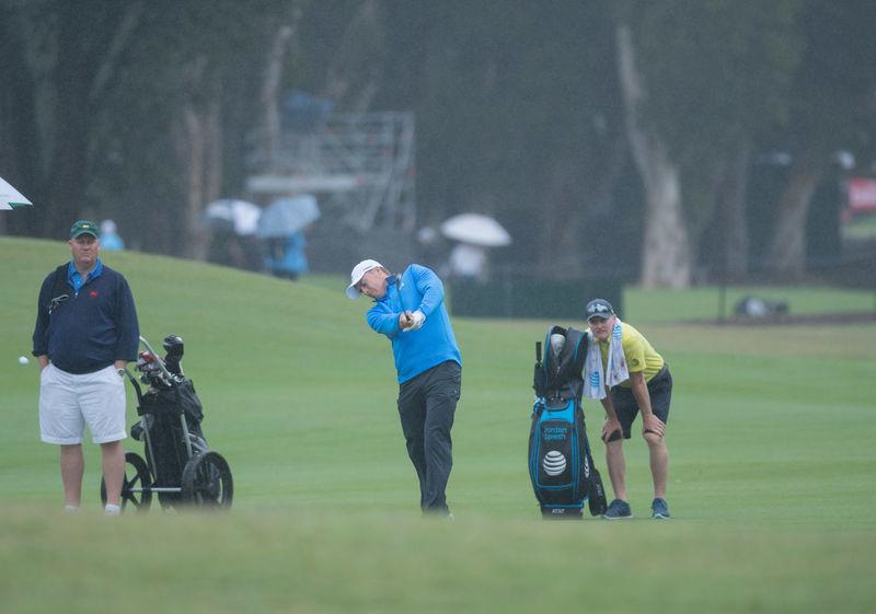 Jordan Spieth of the Unites States play his shot during the pro-am ahead of the 2017 Australian Golf Open at Australian Golf club Sydney on Nov 22, 2017. #Jordanspeith #golf #proam